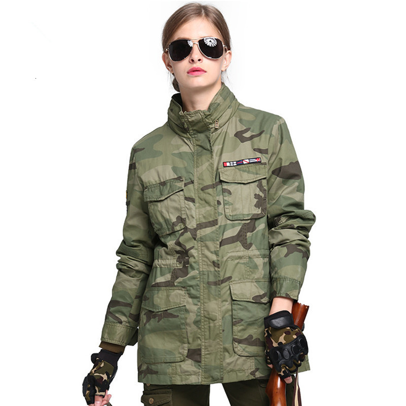 Hot Winter Outdoor Camping Hiking Trekking Clothes Tactical Combat Military Camouflage Training Coat Female Hunting Jacket Women