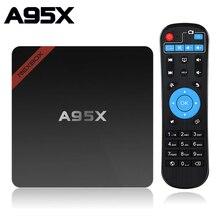 Smart Android TV Box 7.1 A95X NEXBOX Amlogic Quad Core S905W 2GB 16GB WIFI lecteur multimédia PK X96 Mini boîtier décodeur TV