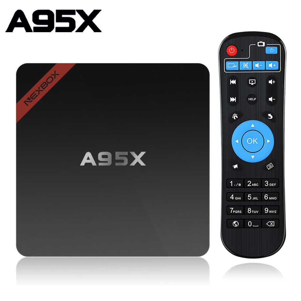 Smart Android TV Box 7 1 A95X NEXBOX Amlogic Quad-core S905W 2GB 16GB WIFI Media Player PK X96 mini Box TV Set Top Box