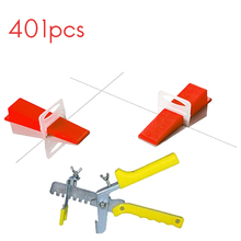 401 Pcs 2mm Spacer Tile Leveling System Spacer Tiling Flooring Tools 300 Pieces Clips + 100 Pcs Wedges + Pliers