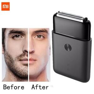 Image 1 - Xiaomi Mijia נייד גברים תער גילוח חשמלי הדדיות 2 סכין ראש IPX7 עמיד למים סוג C טעינה אלחוטי מכונת גילוח
