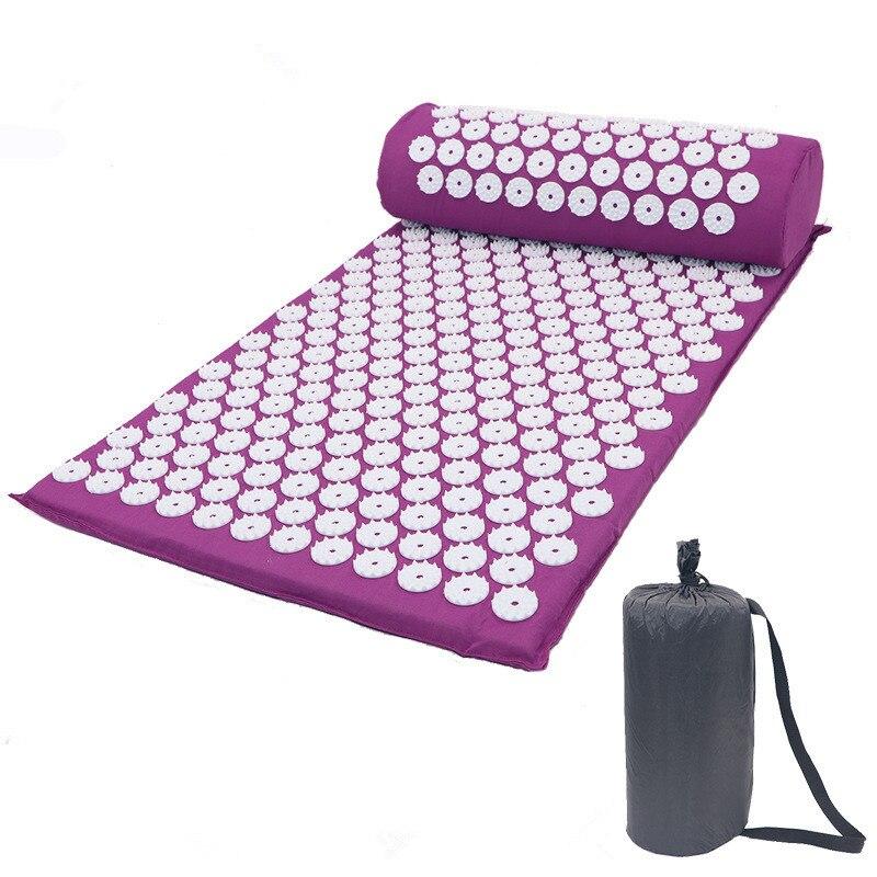 Nuevo masajeador almohadón de acupuntura juegos de acupuntura para aliviar el estrés, dolor, acupresión, almohadilla de masaje, estera de masaje rosa esterilla yoga tapete yoga