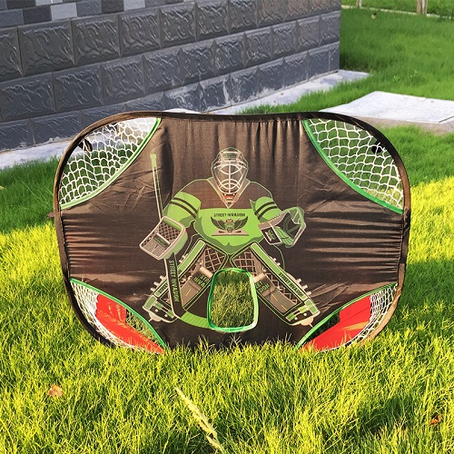 Hockey Goal Shooting Target Soccer Nets Folding Durable Oxford Fabric Double Side For Home Outdoor Kids Hockey Sports Training
