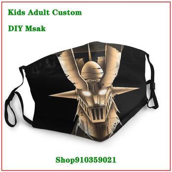 Best Deal PUNK Gold Limited Edition Mazinger Z Majinga Zetto mascarilla reutilizable cloth face masks masque adulte lavable