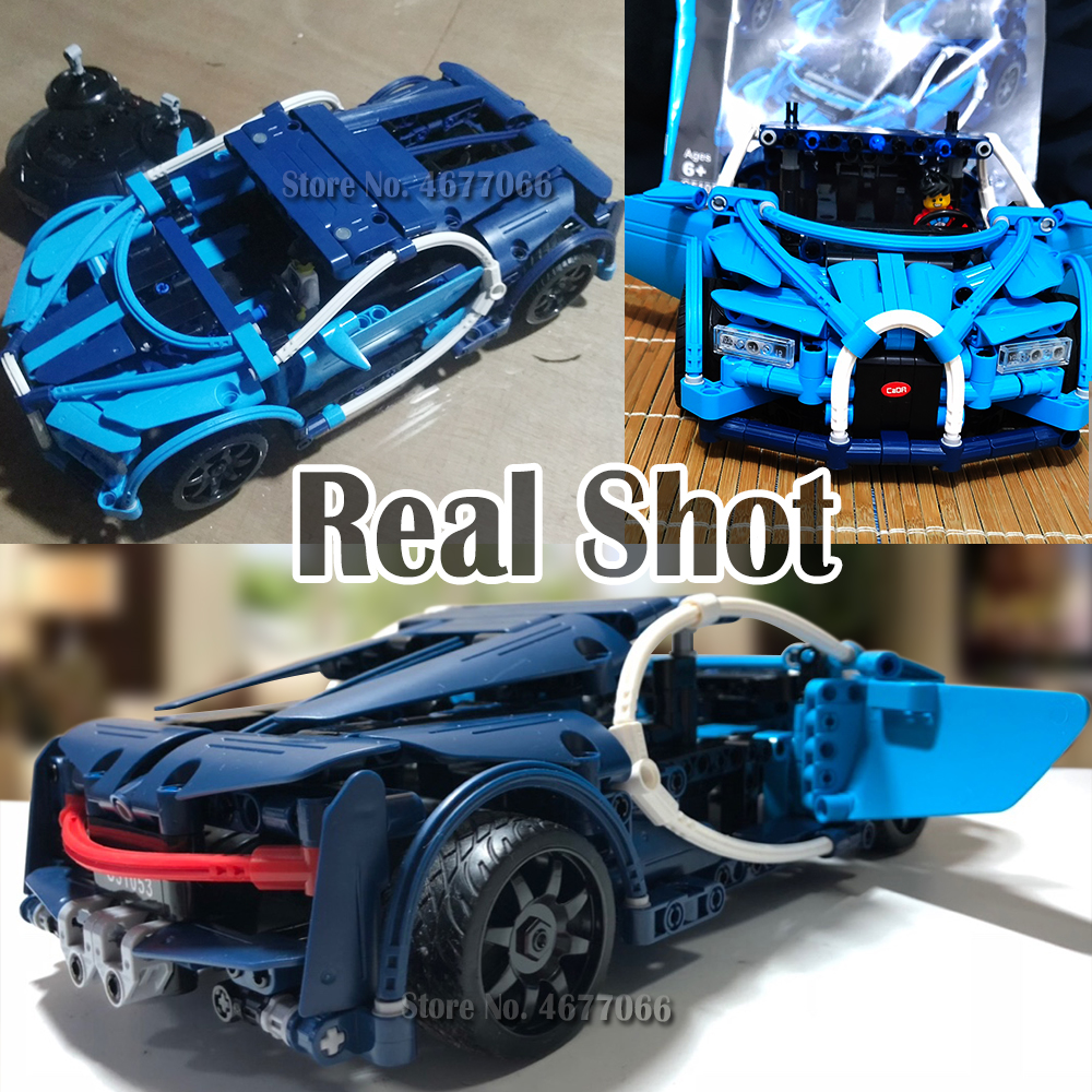 Image 4 - legoed bugatti chiron legoed technic car building blocks toy bricks model building rc remote control car technical toys for boys-in Blocks from Toys & Hobbies