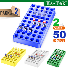 Centrifuge-Tube-Racks Vial-Rack 50 2-Pack 12mm Lab-Supplies Stackable Plastc Holds-Diameter