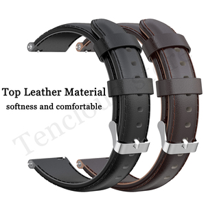 Image 5 - Genuine Leather Band For Ticwatch Pro 3 GPS 4G/LTE Watch Strap For Ticwatch Pro 2020/GTX/E2/S2 Replacement Bracelet High Quality