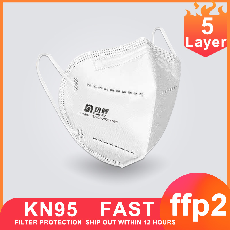 KF94 Mask 100pcs KN95 Face Mask Ffp2 Anti Protective Mouth Mask Respirator N95 Health Antibacterial Mask Cover PM2.5 Masque