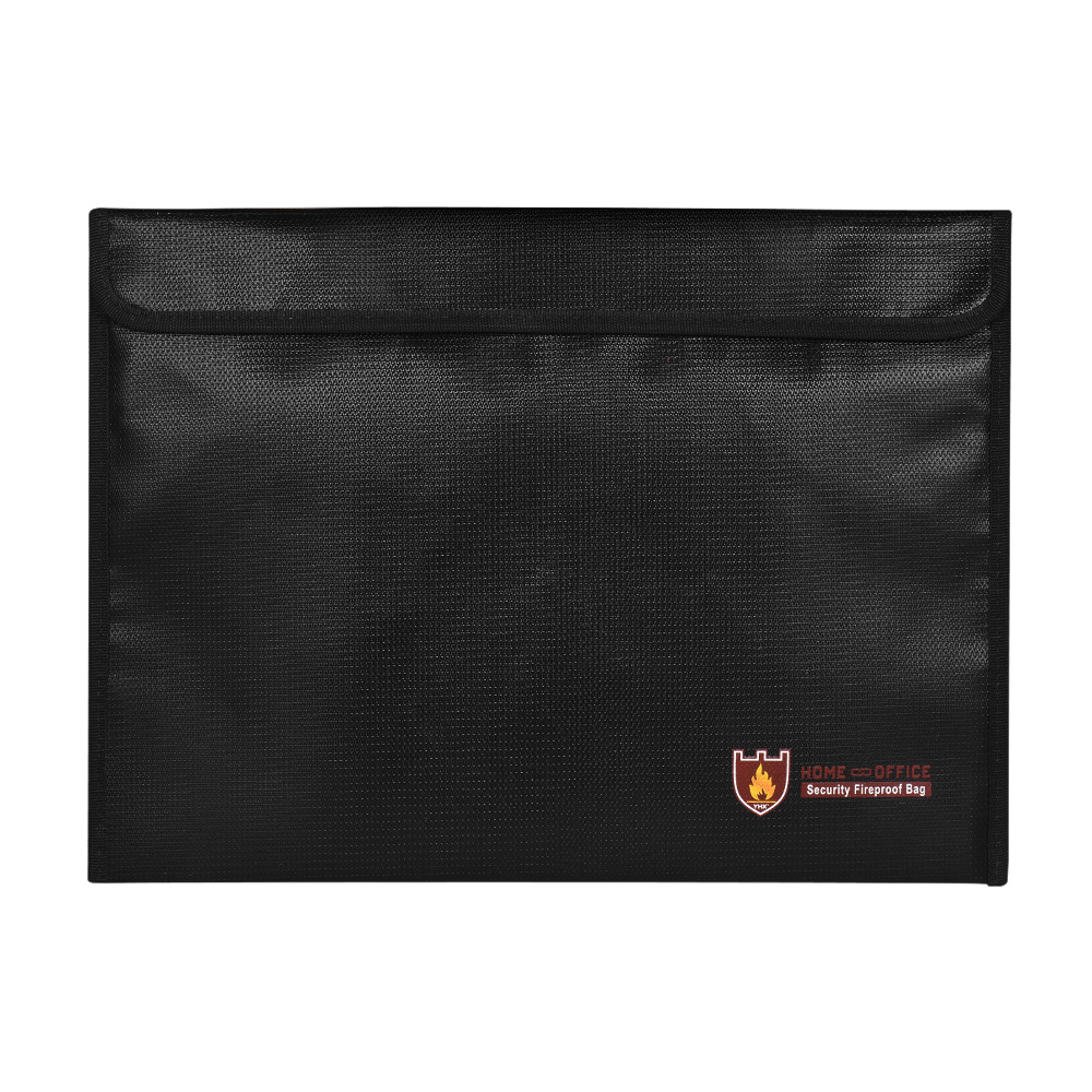 Fireproof Document Bag Silicone Coated Fire Resistant Money File Folder Holder Organizer Safe Storage For Office Home Bank Cards