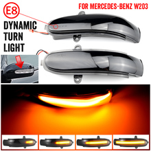 Dynamic Turn Signal LED Side Mirror Indicator Blinker Sequential Light For Mercedes Benz C Class W203 S203 CL203 2001 2007