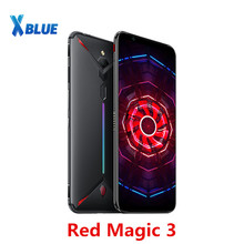 "Cargadores de coche ZTE Nubia magia roja 3 teléfono móvil 6,65 ""Snapdragon 855 Octa core huella dactilar frente 48MP trasero 16MP 6 GB 64 GB 5000 mAh juego teléfono"