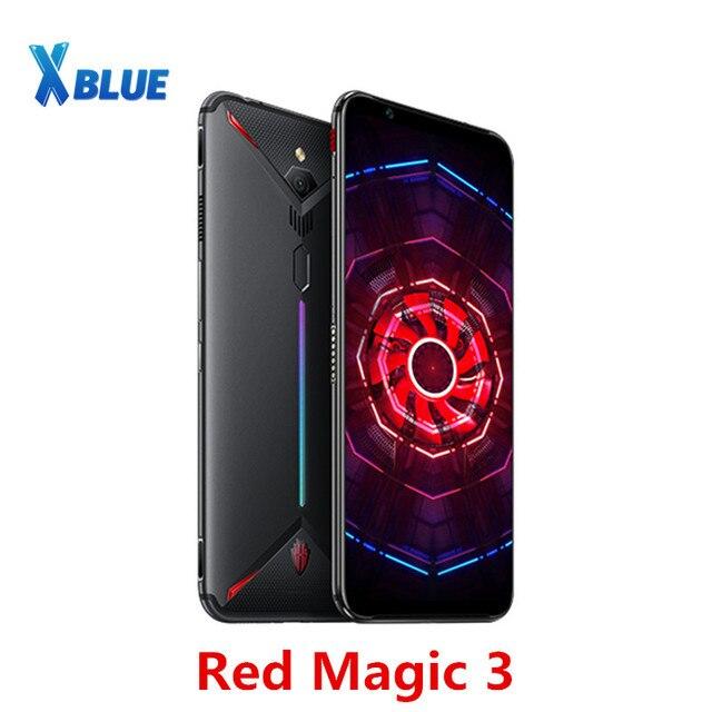 "EU Version Nubia Red Magic 3 Mobile phone 8GB 128GB 6.65"" Snapdragon 855 Fingerprint Front 48.0MP Rear 16.0MP 5000mAh Game Phone"