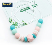Silicone Beads Nursing Necklace Baby Products Teether Morded