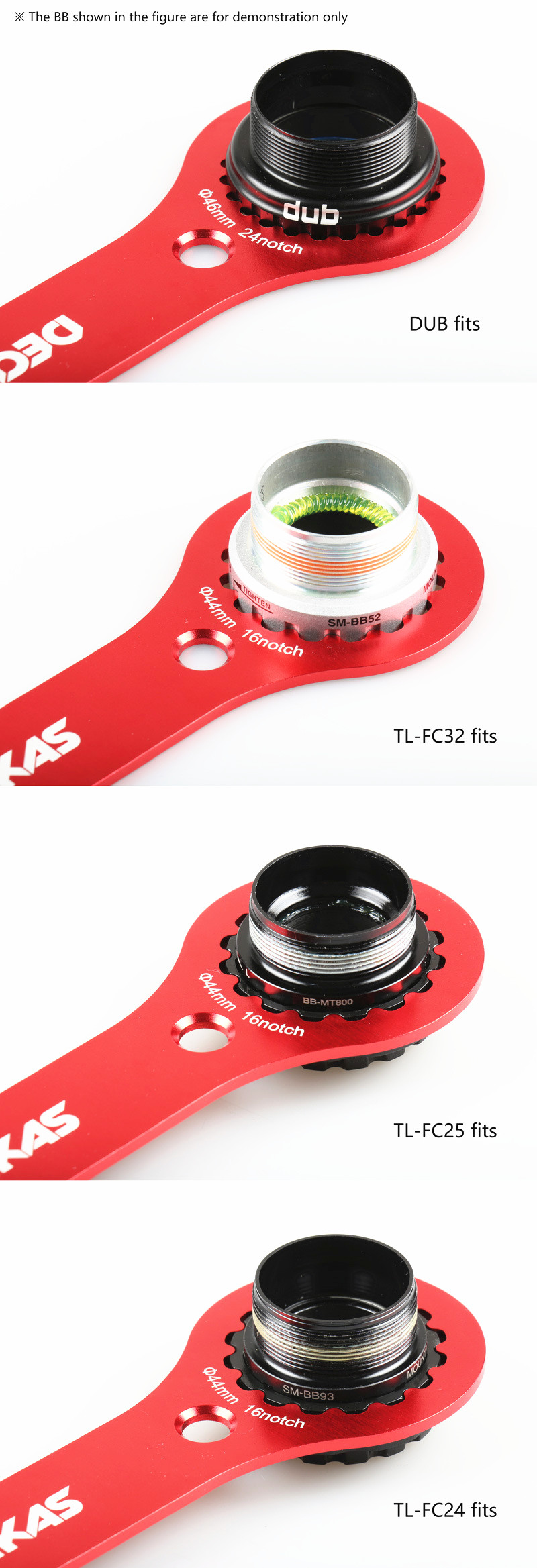 Bicycle Aluminum Alloy Axis Wrench Tool Dub//TL-FC32 25 24 Multifunctional BB Wrench Tool Original