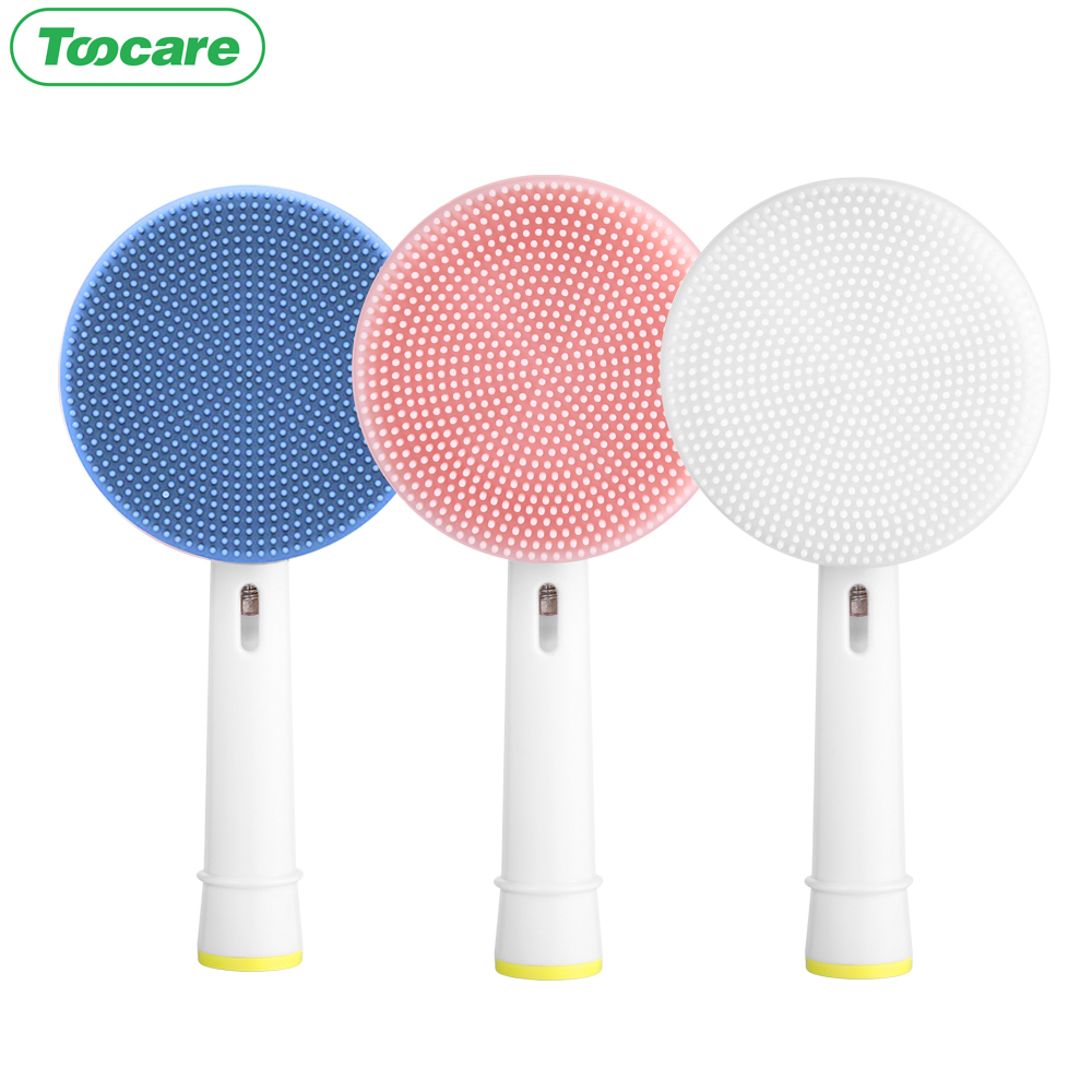 Compatible with Oral-B Electric Toothbrushes Replacement Facial Cleansing Brush Head toothbrush heads image