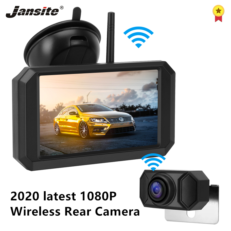 Jansite 5 inch Car Monitor 1080P Wireless Backup Camera Reverse Rear View Camera Auto Parking Assistance Digital signal Color