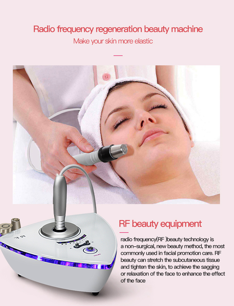 Portable rf beauty system skin tightening machine