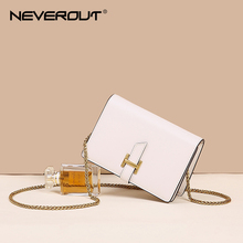 NEVEROUT Women's Leather Bag Summer Mini Messenger Bag Fashion Flap Bags Small Chain Shoulder Sac Cross-body Black/White/Brown brown bag high quality leather messenger bags brand fashion design cross body flap box handbag black green white color