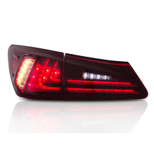 Fit Lexus IS250/IS300/IS350 2006-2012 Tail light Led Design Red Lens Taillight Assembly Rear Lamp