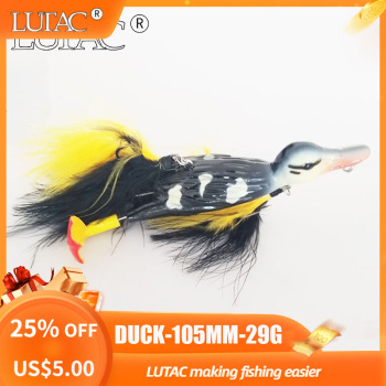 Lutac Duck Fishing Lures Pesca Tackle Lures Artificial Baits Floating Bass  Wholesale Outdoor Hard  ABS Plastic