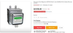 Image 5 - Pour four à micro ondes Galanz magnétron OM75S31GAL01 même M24FB 210A pièces de micro ondes