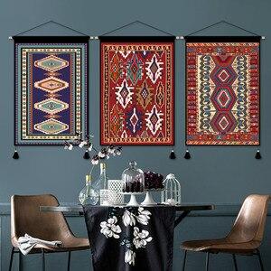 Настенный гобелен в богемном стиле, с мексиканскими кисточками, для спальни, бохо, эстетический гобелен, окна, макраме, богемный Декор AD50WT