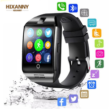Bluetooth Smart Watch men Q18 With Camera Facebook Whatsapp Twitter Sync SMS Smartwatch Support SIM TF Card For IOS Android Men