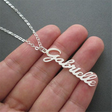HIYONG Personalized Vertical Custom Name Necklace Rose Gold Silver Color Nameplate Statement Necklaces Best Gift for Women Girls hiyong custom crown name necklace personalized silver rose gold chain nameplate choker christmas gift necklaces jewelry