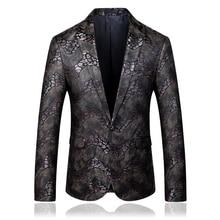 plus size 5xl 2019 autumn snake desgin mens suit jacket blazer brand new single button men casual jackets