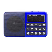 L-238SW Mini Portable Digital Multi Full Band FM Am Mw Sw Radio Receiver Support From Tf Card and USB Flash Drive(Blue)(China)