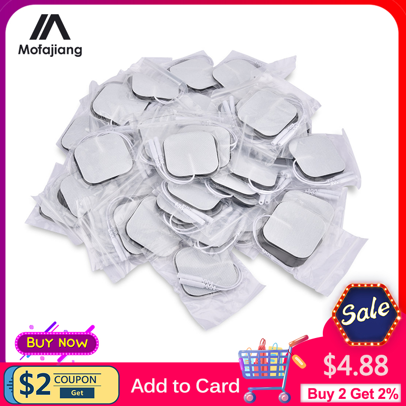 4*4cm/5*9cm EMS Electrode Pads Nerve Muscle Stimulator Silicone Gel Tens Electrodes Digital Acupuncture Physiotherapy TENS Pads