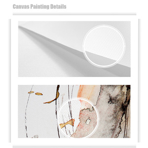 Image 5 - Black and White Canvas Art Flower Picture Abstract Modern Painting Poster Living Room Painting Black White Landscape Unframed
