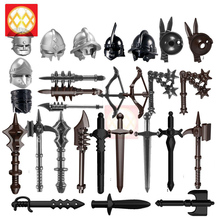 10 шт./лот, оружие, молоток, Викинг, Римский средневековый рыцарь, варвар, броня, стрела, шлем, часть, строительные блоки, Moc legoingsly, детские игрушки