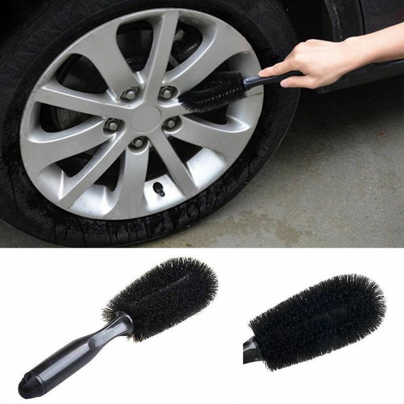 High Quality Car Wheel Tire Rim Scrub Brush Vehicle Wheel Tire Carpet Brush Car Truck Motorcycle Bicycle Washing Cleaning Tool