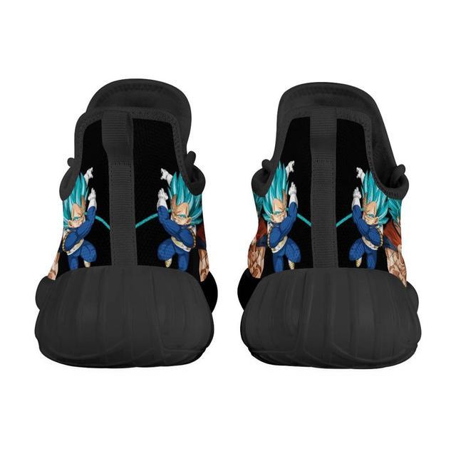 Zapatillas deportivas transpirables con diseño personalizado para hombre, zapatos masculinos para correr con diseño de dibujos animados de Anime, liviano para correr, Vegeta 4