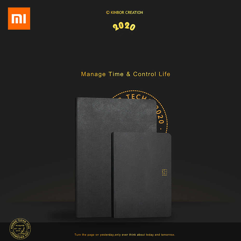 Xiaomi Mijia Kinbor 2020 Whole Year Notebook Annual Calendar Schedule Favorite List Record Sheet Diary Record Every Bit Of Live