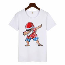 2020 Women's Hawaiian Santa Print T Shirt Harajuku Christmas Graphic Tees Tshirts Female T-shirt Kawaii Tops The Black Friday(China)