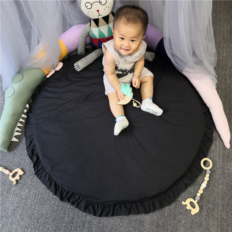 Hc8b74c50a9274bb891afe508f30c0c59i Baby play mat infant playmat Ruond Cotton Crawling Mat kids Game Rugs Children Room Floor Carpet decorative mats Photo Props