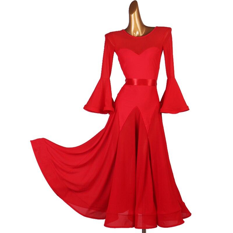 Ballroom Dance Competition Dress Suit Free Belt Waltz Social Dance Standard Dance Dress New Tango Costume Ballroom Dress 1441