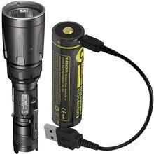 NITECORE 5 色 SRT7GT + USB 充電式バッテリークリー XP L ハイ V3 1000LM スマートリング防水懐中電灯 UV 救助トーチ