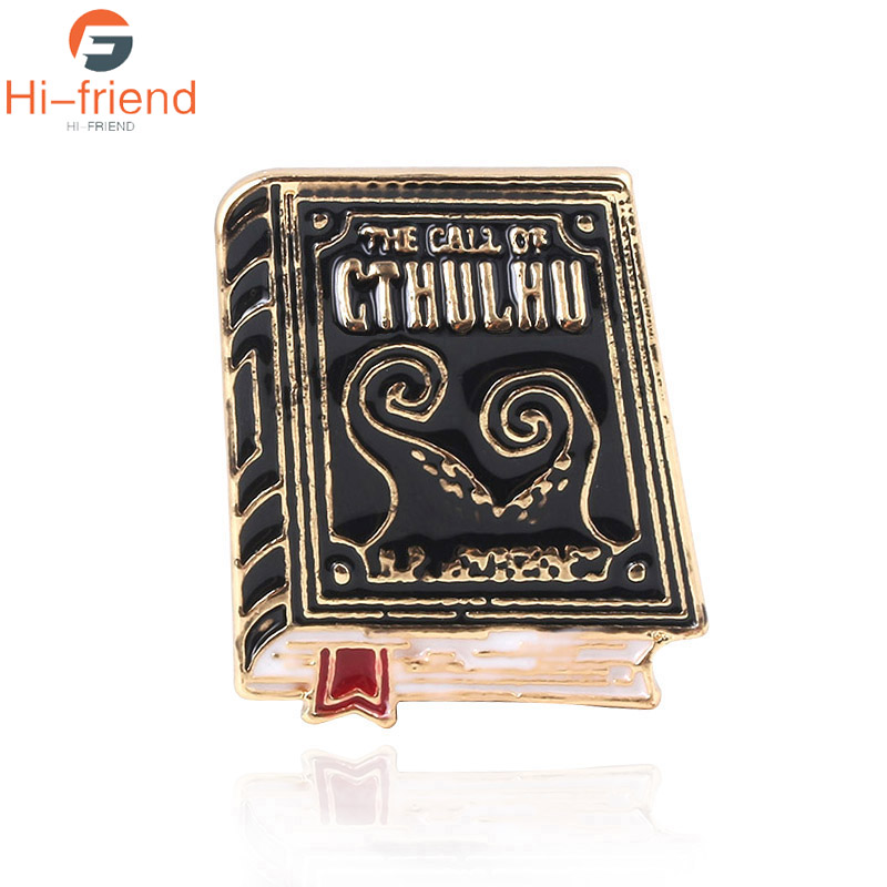 Novel Cthulhu Mythos Brooches The call of cthulhu book literature Code badge Pins For Women Men Lapel Denim Shirt bags Hat Gifts