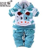 Бархатный комплект одежды с рисунком коровы для маленьких мальчиков и девочек; детские штаны с капюшоном; одежда для маленьких мальчиков и ...