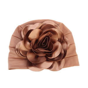 Image 4 - Clearance Big Flower Turban Head Covers Women Muslim Chemo Cap Bandanas India Hat Mujer Ladies Wedding Party Hair Accessories