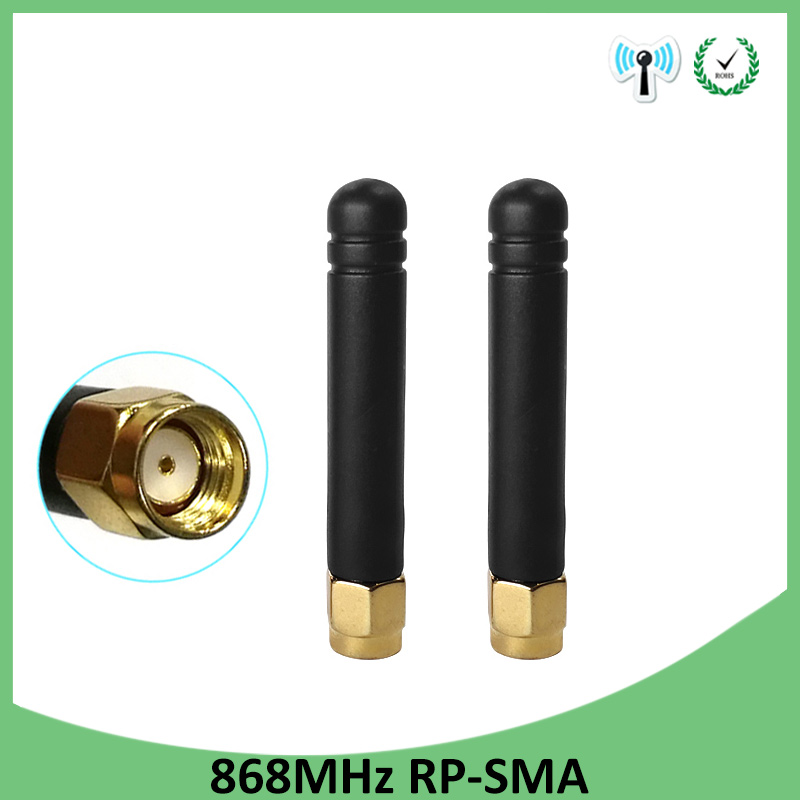 2pcs 868MHz 915MHz Antenna 3dbi RP-SMA Connector GSM 915 MHz 868 MHz Antena Outdoor Signal Repeater Antenne Waterproof Lorawan