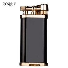 цена на Zorro kerosene lighter creative retro grinding wheel long steel gun personality kerosene lighter for boyfriend