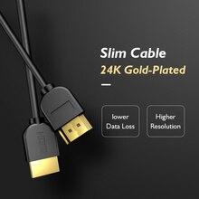 PCER HDMI kablosu Ultra ince altın kaplama 4K 3840*2160P çözünürlük kablosu HDMI 1.5M 3 5M Hdmi kablosu Ultra HD 3D görüntü