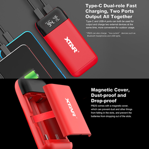 Image 3 - XTAR כוח בנק LCD USB מטען QC3.0 סוג C קלט PB2S עבור 18700 20700 21700 18650 סוללה/רק PB2 סוללה מטען עבור 18650