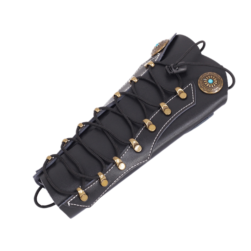 Cowhide Archery Arm Protector Guard For Hunting With Hardware Fasteners Outdoor Hunting Recurve Bow Sport
