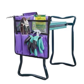 Portable Oxford Garden Kneeler Seat Tool Bag Outdoor Work Cart for Knee Stool Gardening Tools Storage Pouchs Toolkit Storage Bag