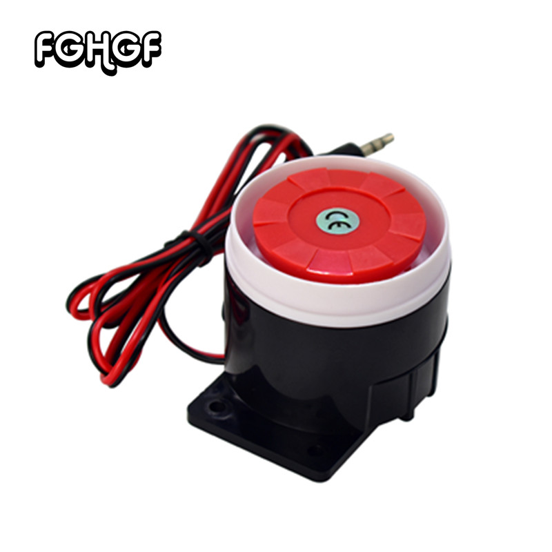 New 12V DC Mini Wired Siren For Wireless Home Office Living Room Bedroom Alarm 120dB Mini Horn Sound Alarm